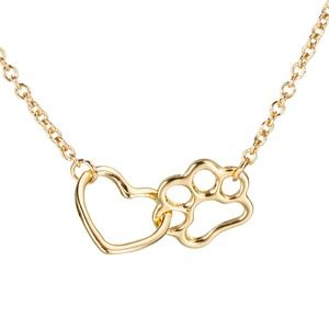 Jewelry - 5 for $25 Pet Paw Footprint Heart Necklace